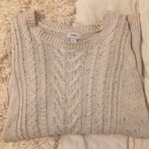 White woven sweater old navy